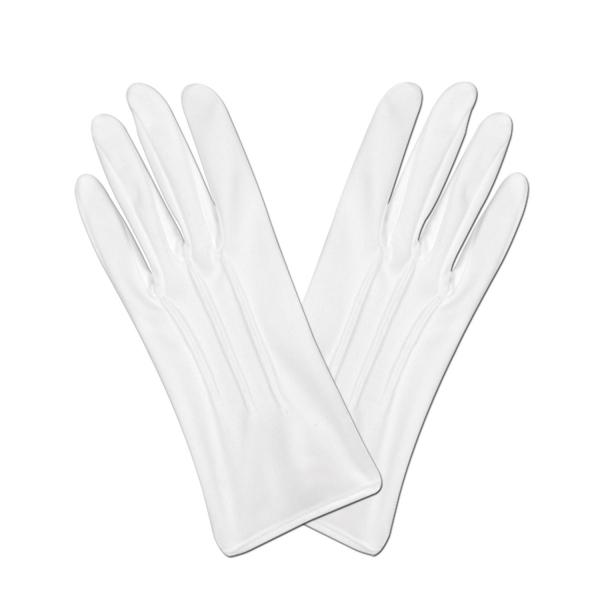 Party-Extra Weiße Damenhandschughe