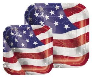 Pappteller Amerika - USA Deko