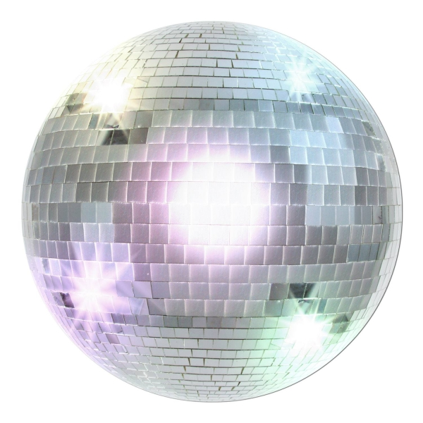 Cutout-Schild Disco-Kugel - Discoparty Deko