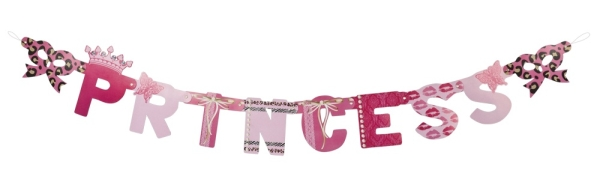 Partybanner Party Princess - Prinzessin Deko
