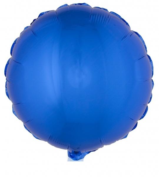 Folienballon rund, blau - Partydeko
