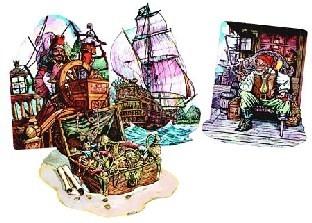 Cutout Set Verfluchte Karibik, 4er Set je 37 cm groß