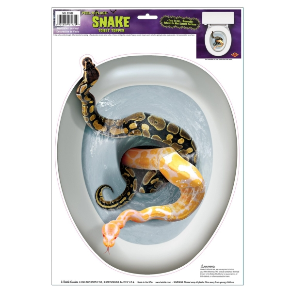 Toilettendeckel-Aufkleber Giftschlangen - Verpackung
