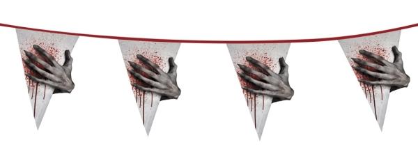 XL-Wimpelkette Zombie Alarm - Gruseldeko