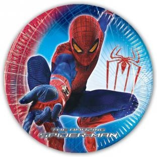 Pappteller Spiderman, 23cm, 10er Pack