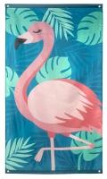 Stoffbanner Pink Flamingo, 150 x 90 cm