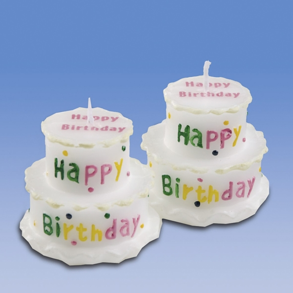 Party-Extra Happy Birthday Kerzen, 2er Pack - Geburtstagsdeko