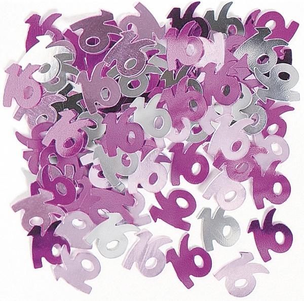 Tischkonfetti Pink Sixteen - Mädchenparty Deko
