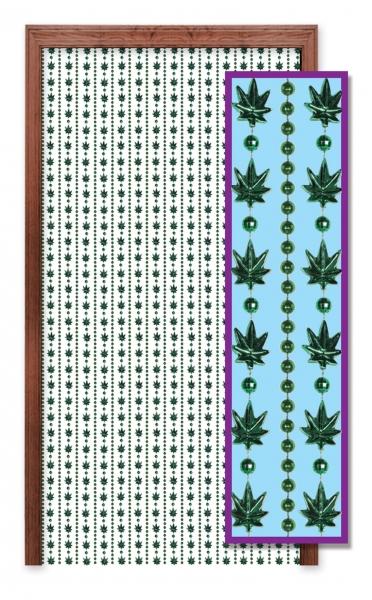 Tuervorhang Weed-Gras - 70er Jahre Hippie Deko