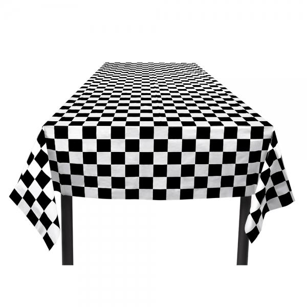 Plastik-Tischdecke Black & White - Motorsport Deko