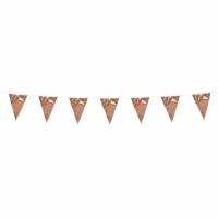 Mini-Wimpelkette Rosegold, 3 Meter