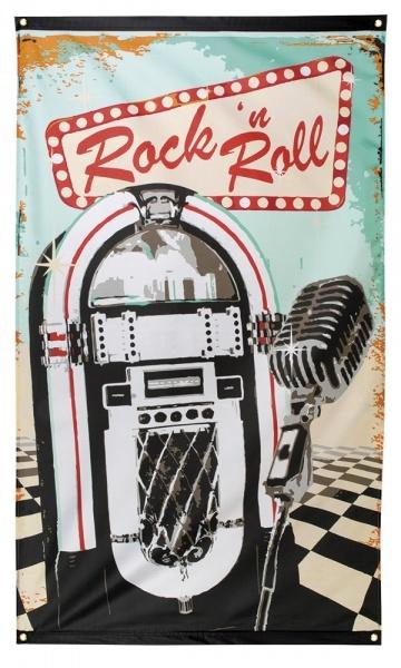 Party-Extra Dekofahne Rock + Roll - 50er Jahre Deko