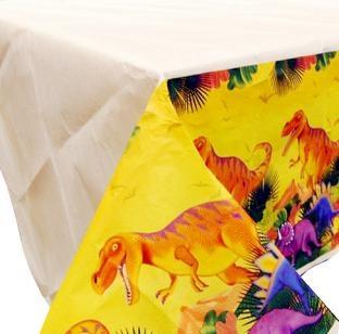 Papier-Tischdecke Dinosaurier, 137cm x 259cm groß