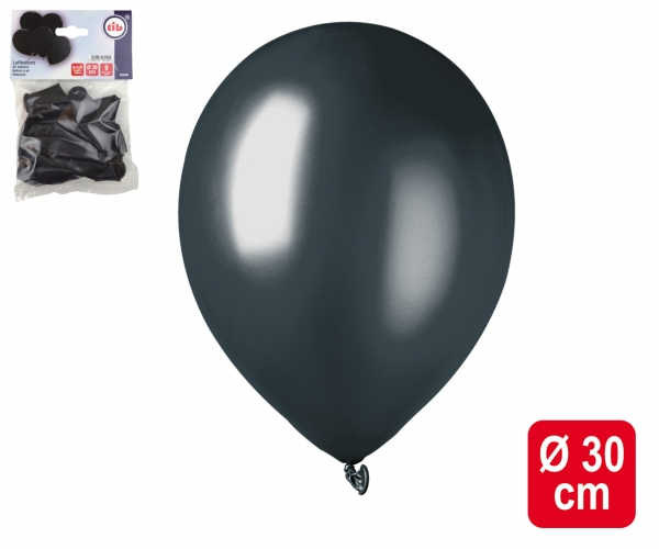 Luftballons schwarz-metallic - Glamour Deko