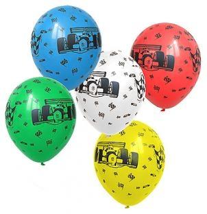 Luftballons Autorennen, 5er Pack
