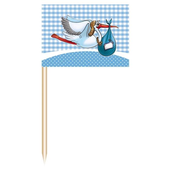 Party-Extra Flaggenpicker Es wird ein Junge, 50er Pack