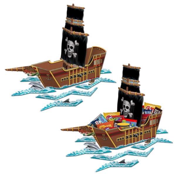 Riesen-Tischaufsteller Piratenschiff, 65 cm
