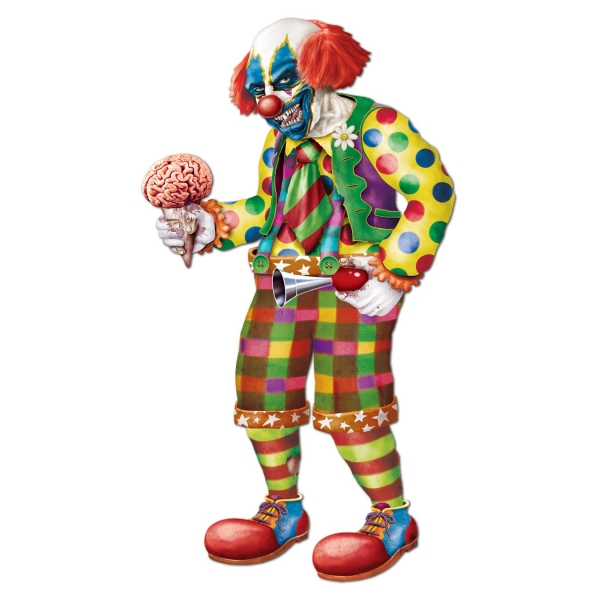 Riesen Cutout Figur Zombie Clown - Halloween Deko