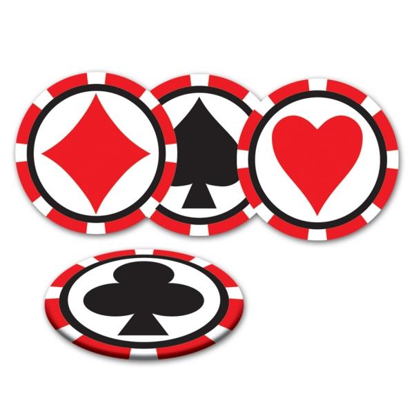 Untersetzer Skatrunde - Las Vegas Casino Deko