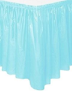 Tischvorhang hellblau