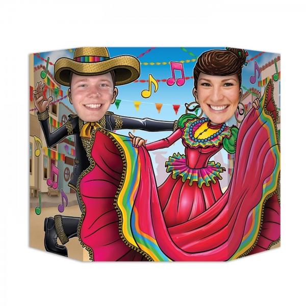 Fotowand-Aufsteller Flamenco - Mexikoparty Zubehoer