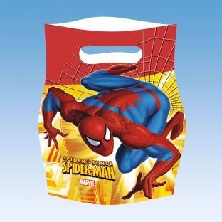 Mitbringseltüten Spiderman, 6er Pack