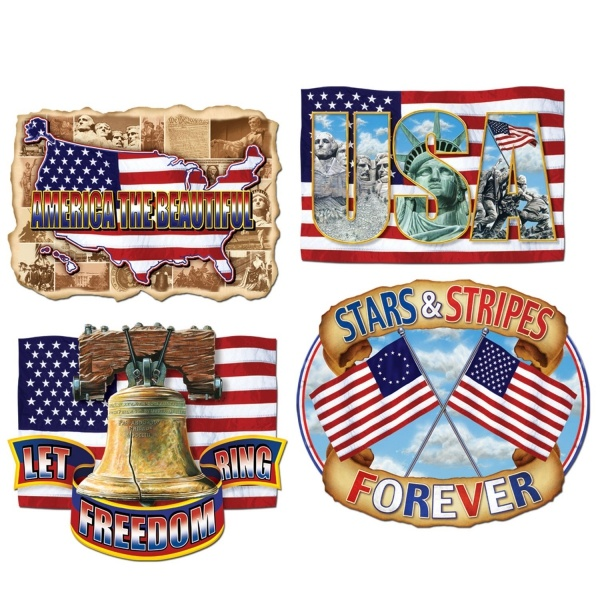 Cutout Set American Pride - Amerika Party Deko