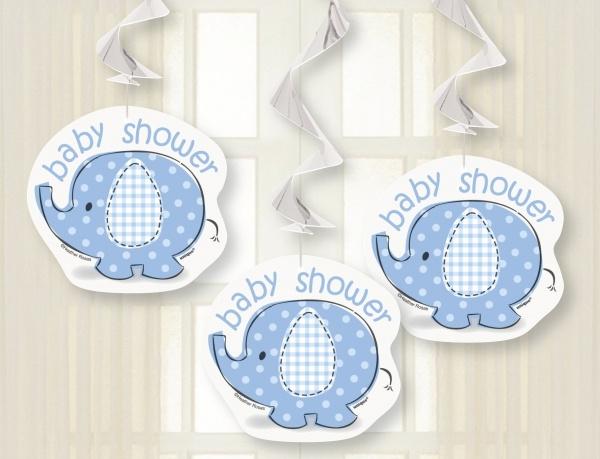 Party-Extra Dekohänger Babyfant, 3er Pack