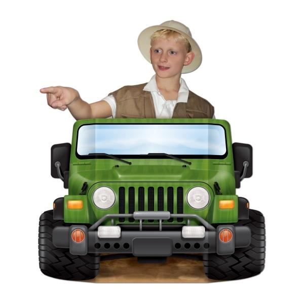 Riesen Pappaufsteller Jeep