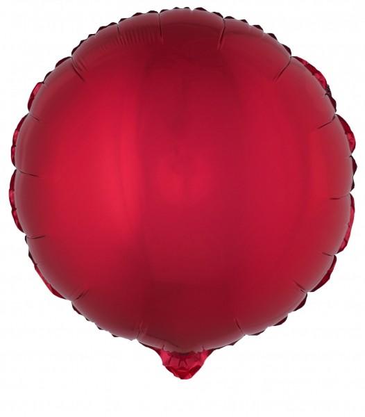 Party-Extra Folienballon rot, rund
