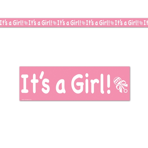 Absperrband It's a Girl - Babyparty Deko