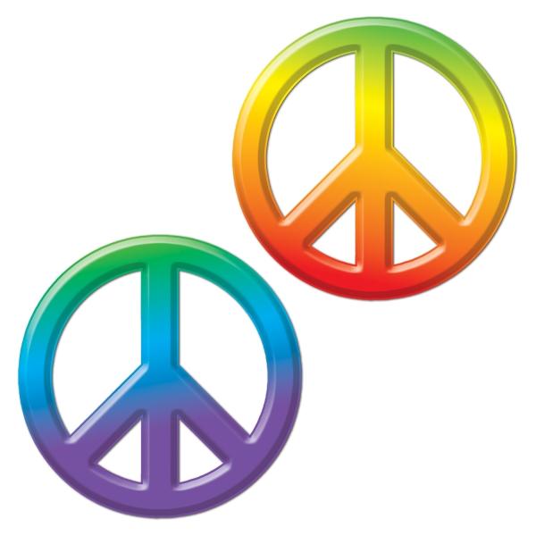 Peace Symbol Deko - 70er Jahre Hippie Partydeko