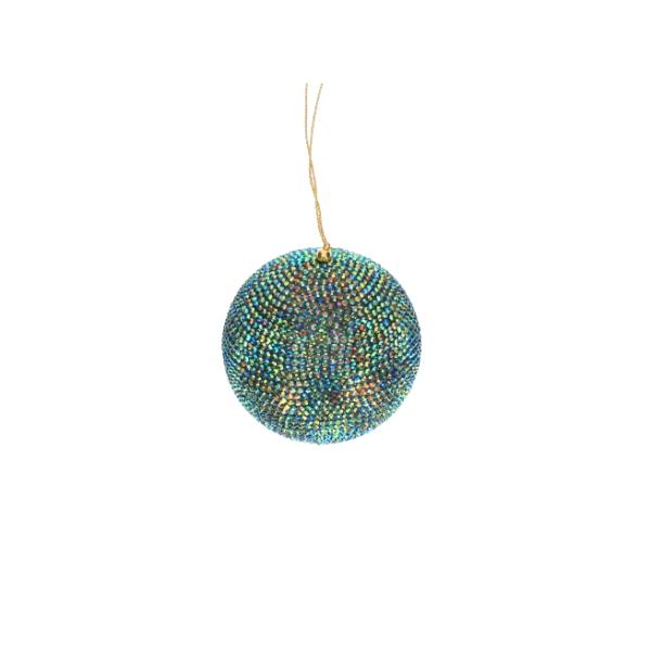 Diamanten Kugel petrol / grün, 10cm