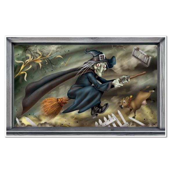 Dekofolie Flying Witch, 163x102cm groß