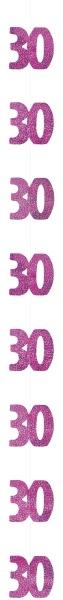 Hängegirlanden Pink Birthday, 6er Pack, 150cm