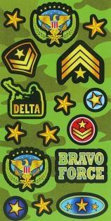 Party-Extra Stickerbogen Flecktarn - Army Deko