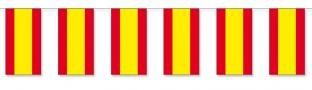 Papier-Flaggenkette Spanien - Laender Deko