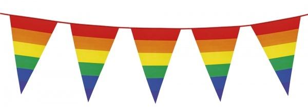 XL-Wimpelkette Regenbogen