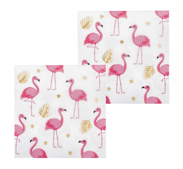 Servietten Flamingoparty - Flamingo Tischdeko