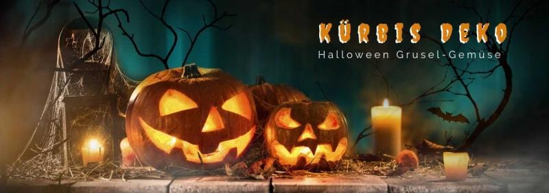 Halloween Kuerbis Deko - Gruselgemuese D