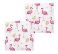 Servietten Flamingoparty, 12er Pack