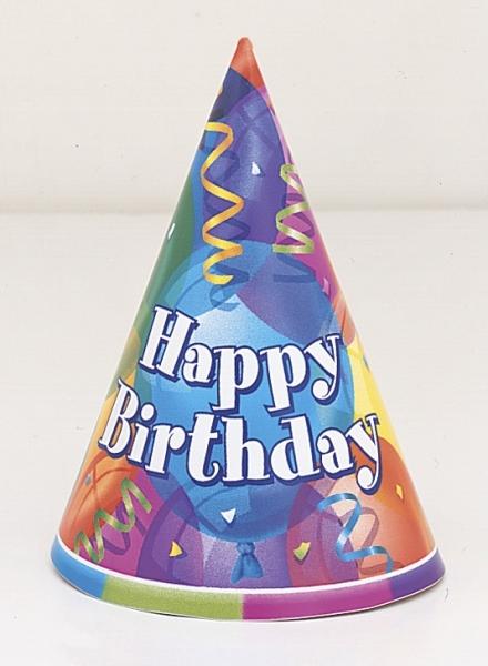 Partyhüte Brilliant Birthday - Geburtstagsparty Zubehoer