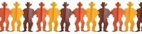 Papier-Girlande Cowboy, 3 Meter x 28cm