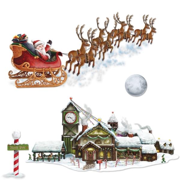 2 Dekofolien Weihnachtsfabrik, 4 Motive