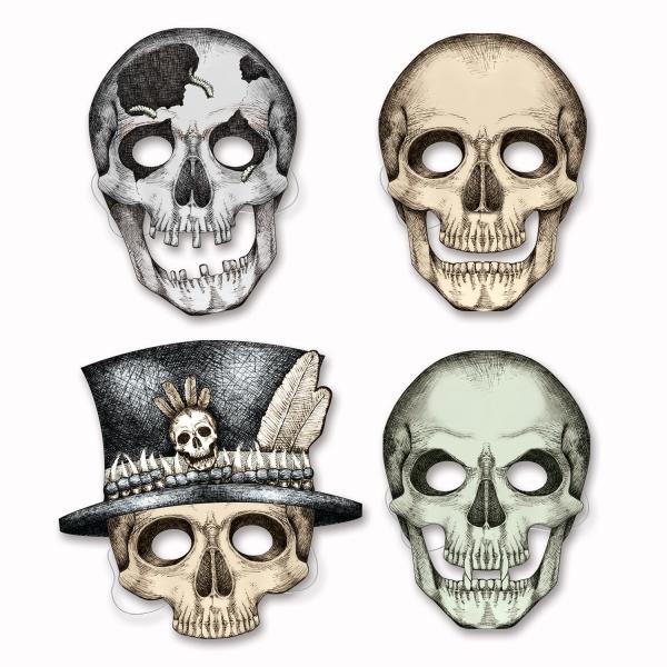 Papiermasken Horror-Schaedel - Halloween Accessoires