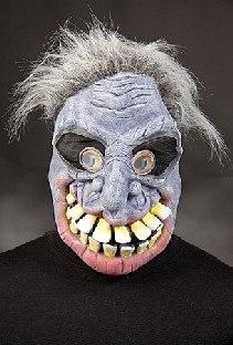 Maske Großmaul-Günter mit Hologramm-Augen