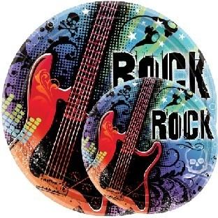 Pappteller Rock Star (18 Stück)