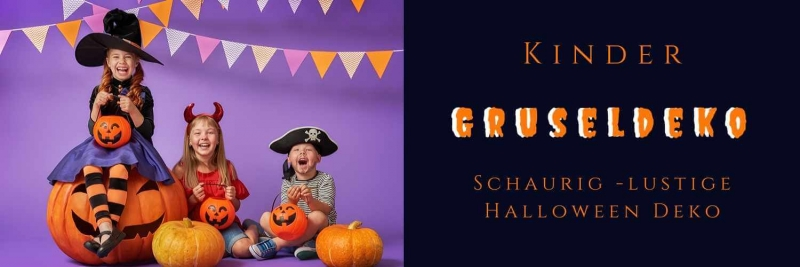 Kinder Gruseldeko fuer die Kleine Monsterparty Halloween D