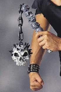 Party-Extra Morgenstern Skull Warrior - Fantasy Deko