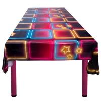 Plastik-Tischdecke Disco Fever, 130 x 180 cm
